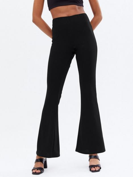 new-look-stretch-flared-trousers-black