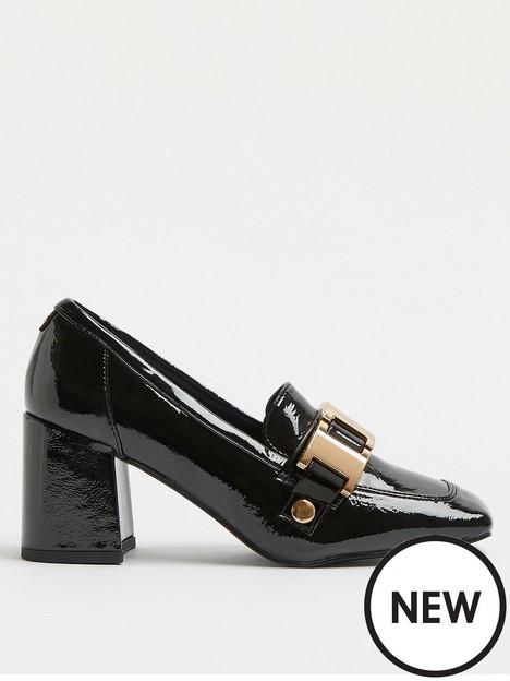 river-island-heeled-loafer-black
