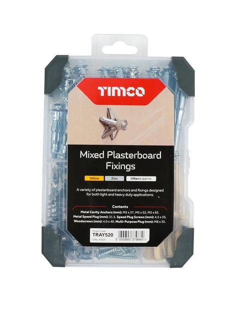 timco-timco-plasterboard-fixings-mixed-tray-106pcs