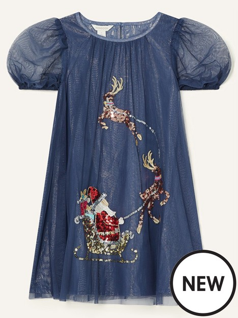monsoon-girls-sequin-trapeze-sleigh-dress-navy
