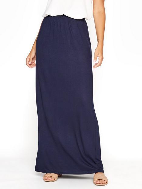 long-tall-sally-maxi-tube-skirt-navy