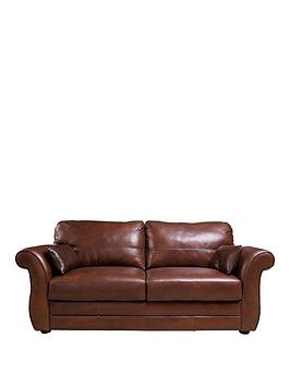 Very Vantage Italian Leather 3 Seater Sofa Picture