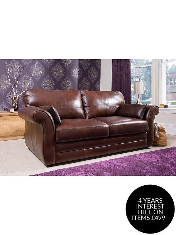 Vantage Italian Leather 3 Seater Sofa, Freedom Leather Sofa Review
