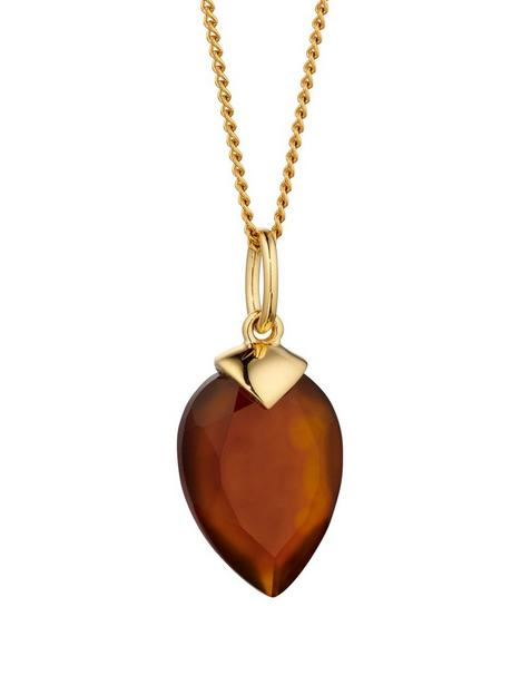 the-love-silver-collection-gold-plated-silver-birthstone-pendant