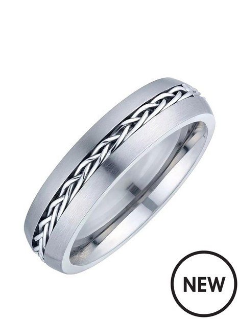 unknown-mens-titanium-patterned-band-ring