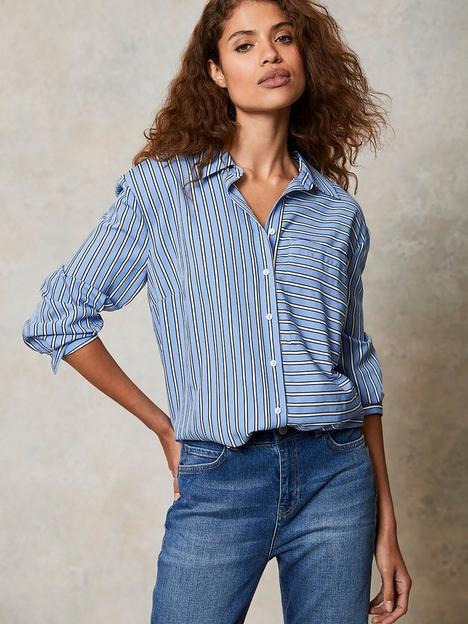 mint-velvet-stripe-oversized-shirt