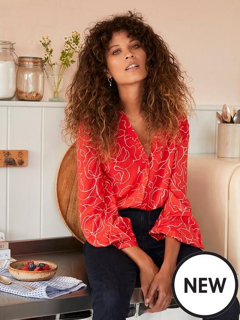 mint-velvet-mint-velvet-jamie-print-gathered-easy-blouse