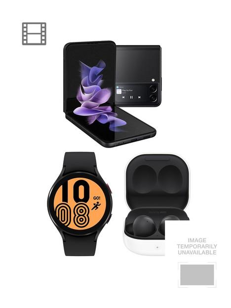 samsung-galaxy-z-flip-3-5g-128gbnbspblack-galaxy-watch-4-44mm-4g-black-buds-2