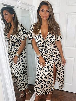 ax-paris-ax-paris-animal-printed-ruched-side-midi-dress