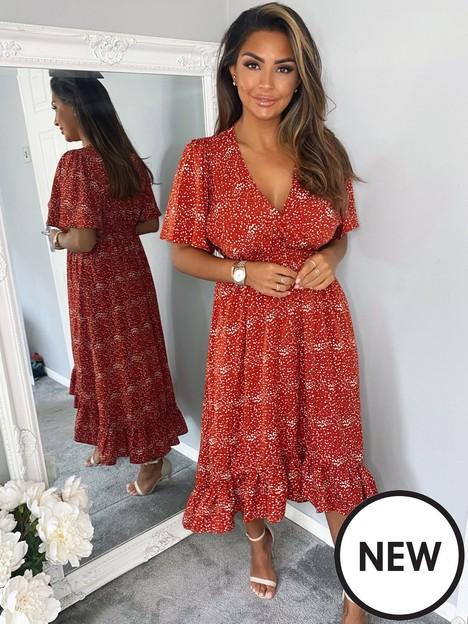 ax-paris-ditsy-printed-wrap-midi-dress