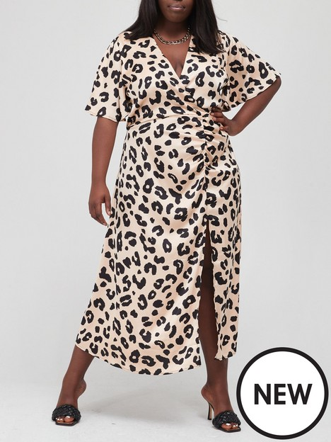 ax-paris-curve-ruched-side-midi-dress-animal-print
