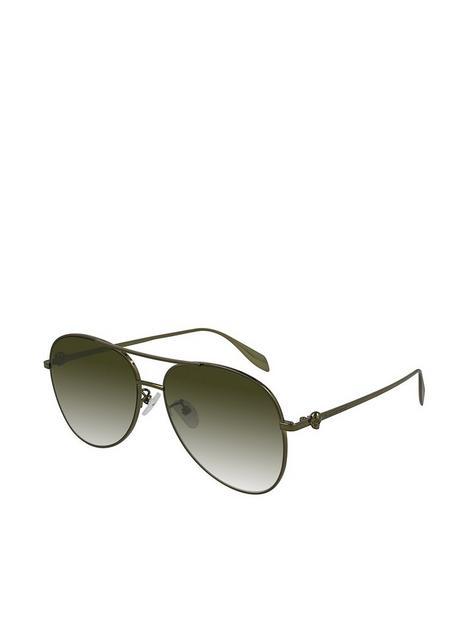 alexander-mcqueen-sunglasses-pilot-sunglasses-green