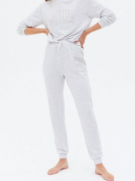 new-look-pale-grey-day-off-logo-lounge-joggers