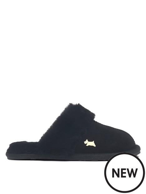 radley-chelsea-creek-shearling-slipper-black