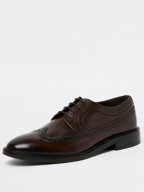 river-island-brogue-lace-up-derby-shoes-brown