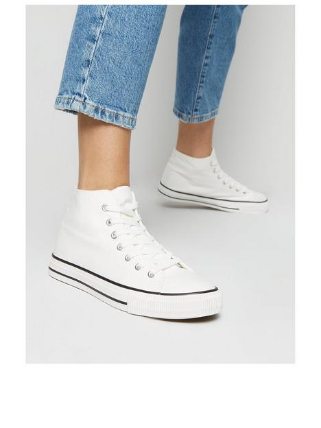 new-look-canvas-high-top-trainers-white