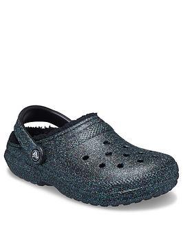 crocs-classic-glitter-lined-clog-blacknbsp