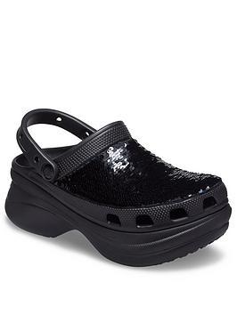 crocs-classic-sequin-bae-wedge-clog-black