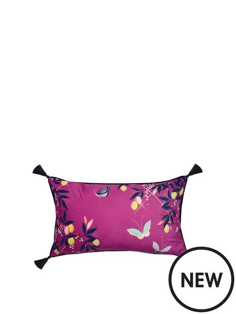 sara-miller-pink-butterflies-cushion-feather-filled