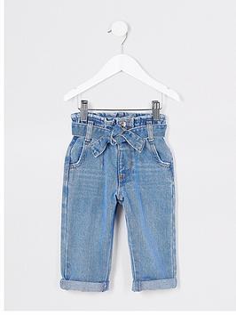 river-island-mini-mini-girls-paperbag-jeans-blue