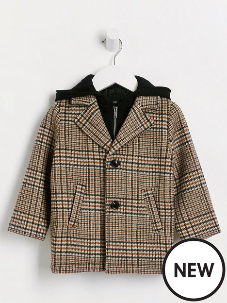 river-island-mini-mini-boys-hooded-wool-coat-brown