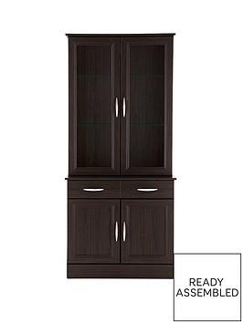 consort-kensington-ready-assembled-2-door-display-unit