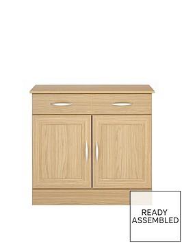 consort-kensington-ready-assembled-compact-oak-effect-sideboard