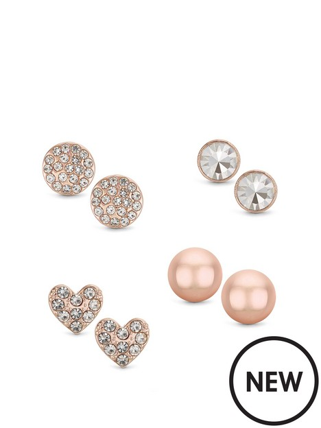 buckley-london-buckley-london-rose-gold-4pcs-stud-earring-pack