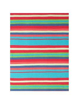 cosatto-knitted-stripe-blanket-multi-colour