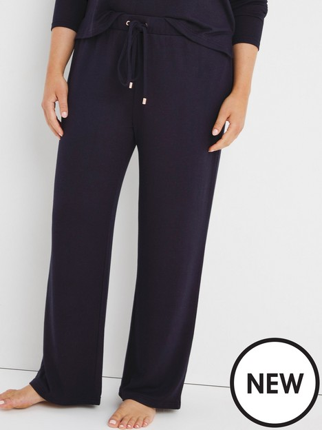 figleaves-figleaves-soft-touch-wide-leg-jogger-navy