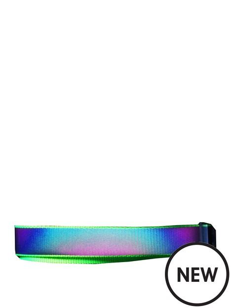 happy-pet-go-walk-led-reflective-rainbow-dog-collar-small