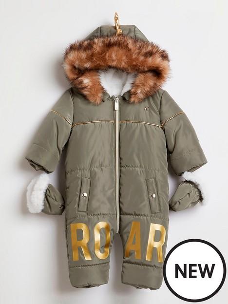 river-island-baby-baby-boys-dino-snowsuit-khaki