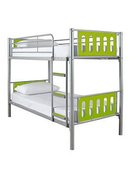 Very Cyber Bunk Bed Frame - Bunk Bed Frame With 2 Premium Mattresses Picture