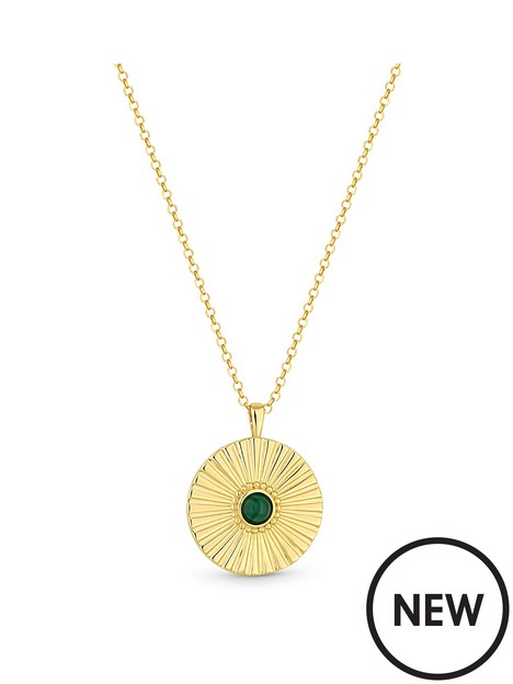 simply-silver-simply-silver-sterling-silver-gold-malachite-pendant