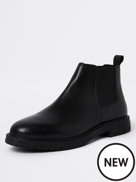 river-island-low-leather-chelsea-boots-black