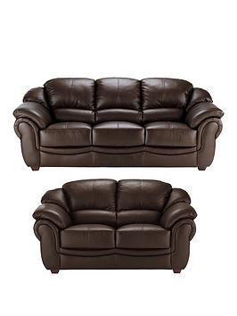 Very Napoli 3-Seater Plus 2-Seater Leather Sofa Set (Buy And Save!) Picture