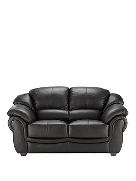 Very Napoli 2 Seater Leather Sofa Picture