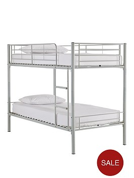 Kidspace Domino Metal Bunk Bed Frame with Mattress Options ...