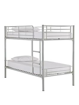 Kidspace Domino Metal Bunk Bed Frame With Mattress Options