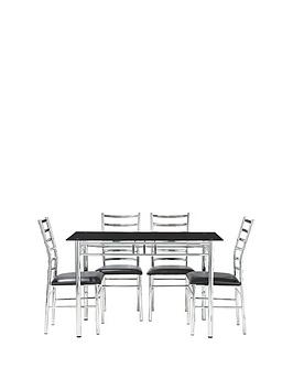 Very  Elect 120 Cm Glass Dining Table + 4 Chairs