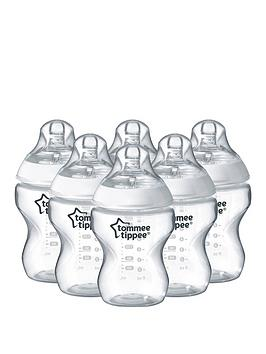 Tommee Tippee Closer To Nature 260Ml9Floz Feeding Bottles (6Pack)
