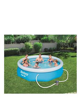 bestway-10ft-fast-set-pool-with-filter-pump