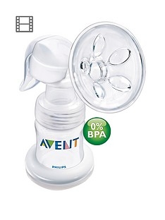 avent-avent-natural-comfort-breast-pump-and-bottle