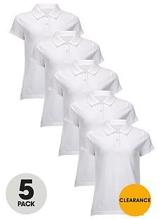 top-class-girls-school-uniform-polo-shirts-5-pack