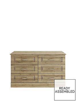consort-dorchester-ready-assembled-3-3-drawer-chest