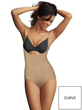 maidenform-wyob-corset-bodybriefer-blackbeigenbsp