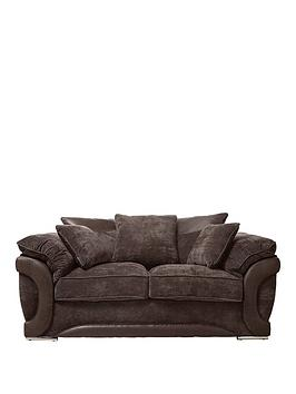 maze-fabric-and-faux-leather-2-seater-scatter-back-sofa